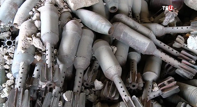Цех по производству взрывчатки в Сирии