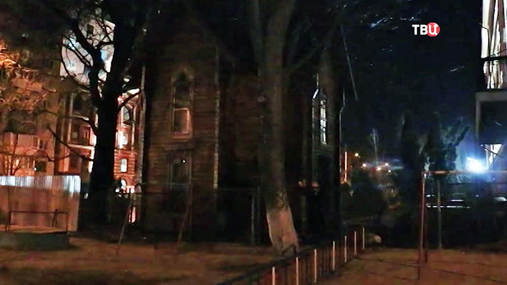 Поджог националистами храма на Украине
