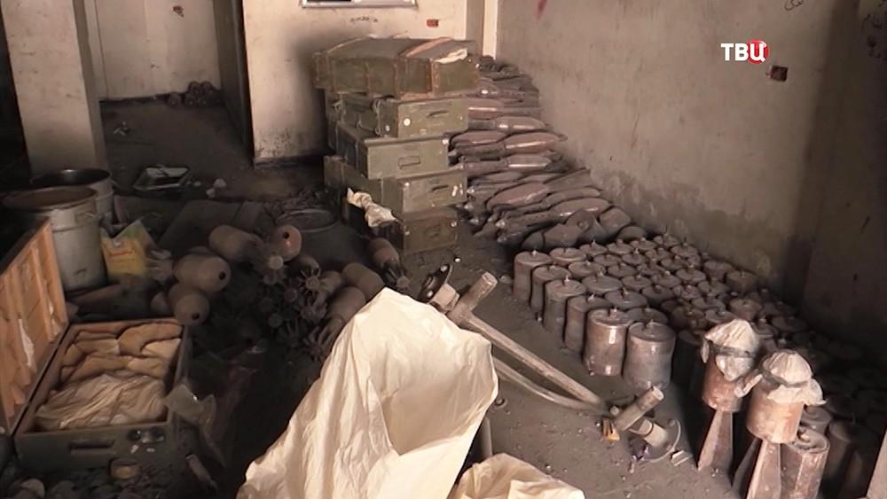 Боеприпасы, оставленные боевиками