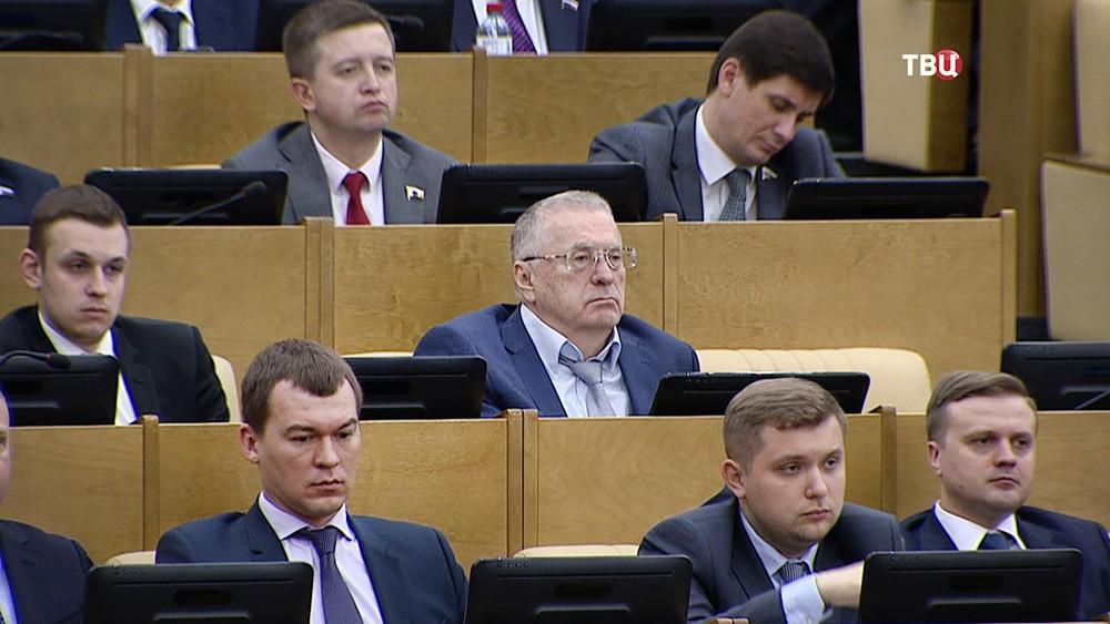 Владимир Жириновский на заседании в Госдуме РФ