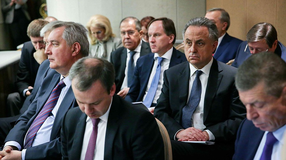 Члены Правительства на заседании в Госдуме РФ