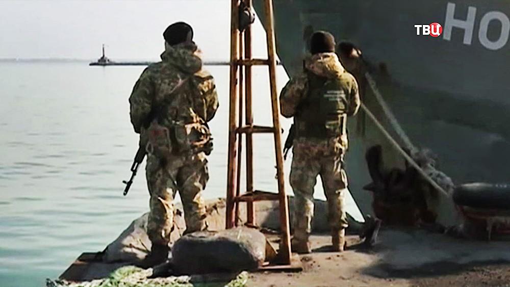 """Пограничная служба Украины возле российского судна """"Норд"""""""