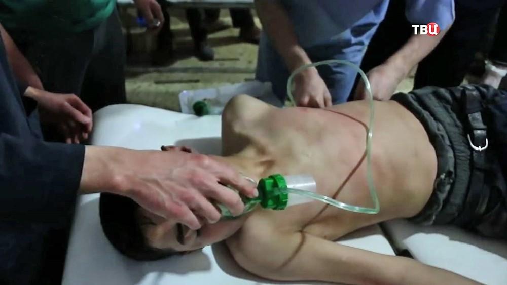 """Подложная съемка активистов """"Белых касок"""" в Сирии"""