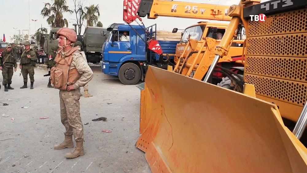 Россия передала Сирии строительную технику и материалы