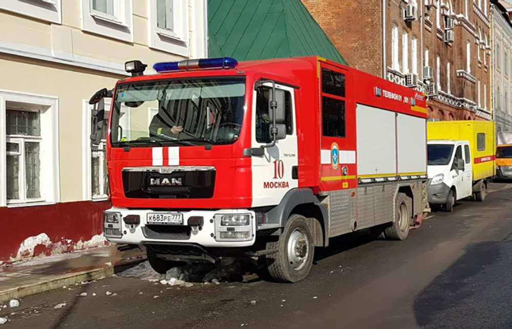 Пожарная машина в Москве