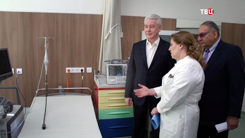 Сергей Собянин посетил медкластер в Сколково