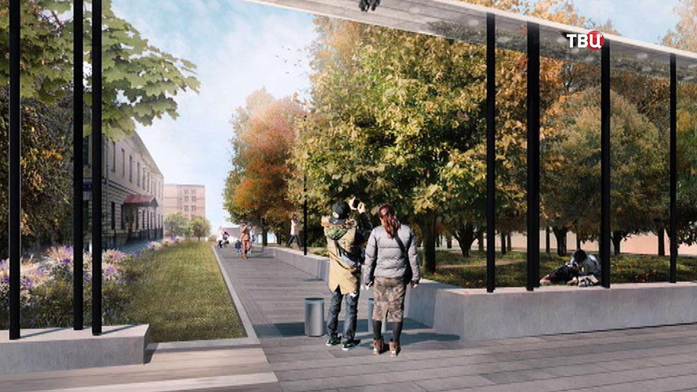 Проект нового входа в Парк Горького