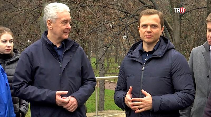 Мэр Москвы Сергей Собянин и Максим Ликсутов