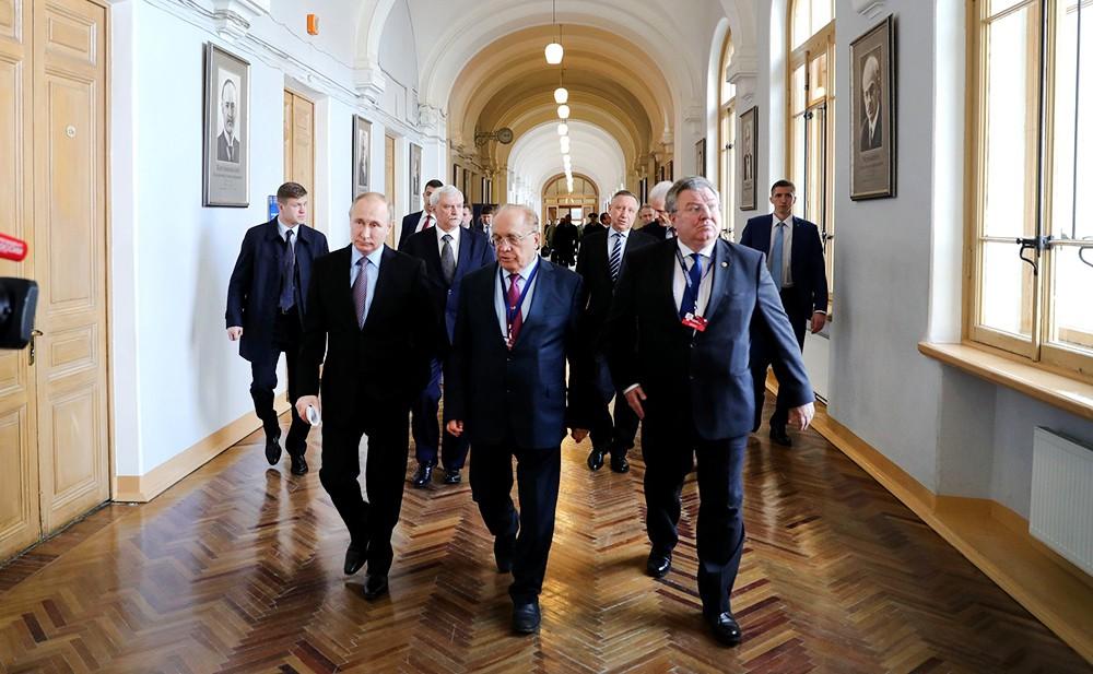 Владимир Путин, Андрей Рудской и Виктор Садовничий