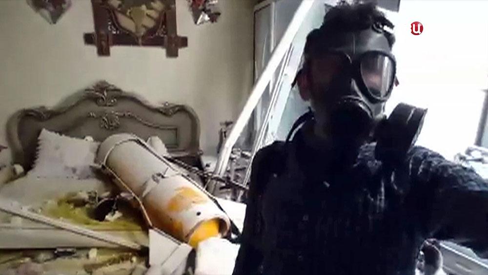 Кадр из постановочного видео о последствиях химотаки в Думе