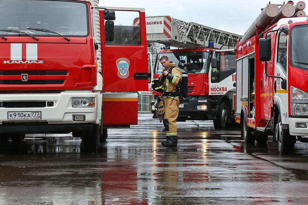 Пожарные в Москве
