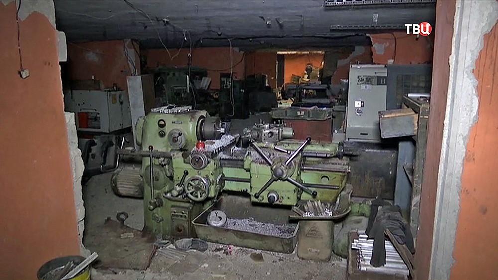 Подпольный цех про производству боеприпасов в Сирии