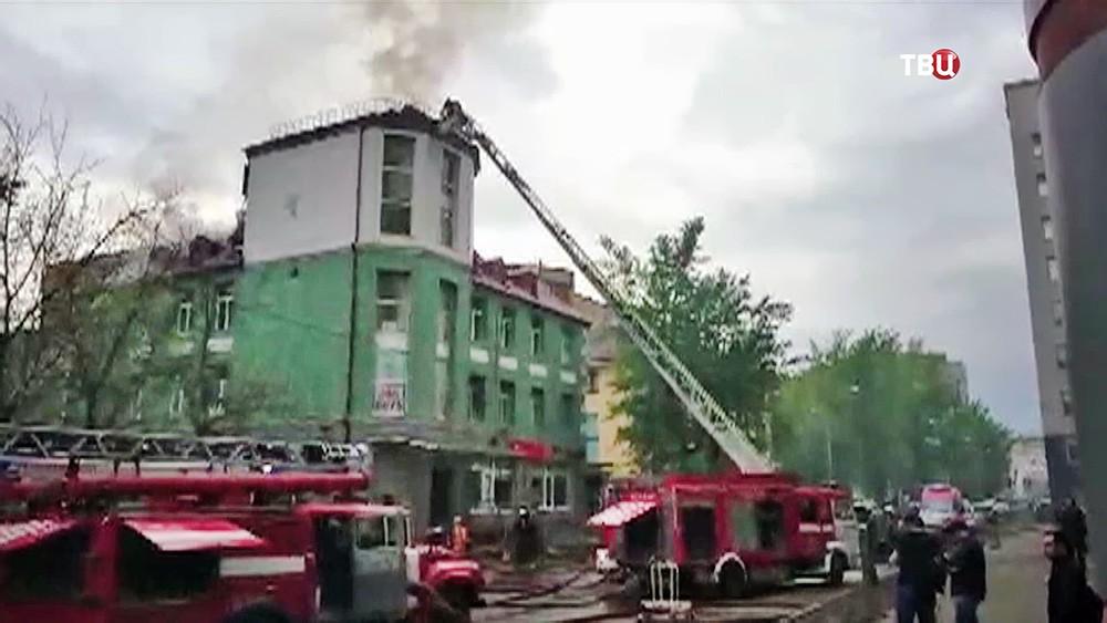 Пожар в бизнес-центре