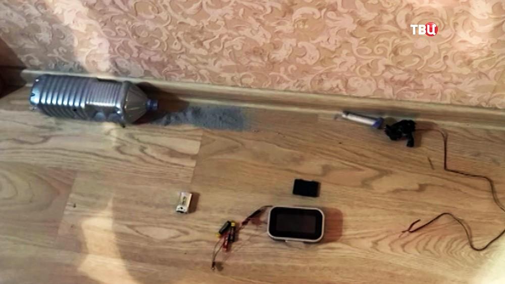 Изъятие компонентов взрывчатки у готовивших теракты в России членов ИГ