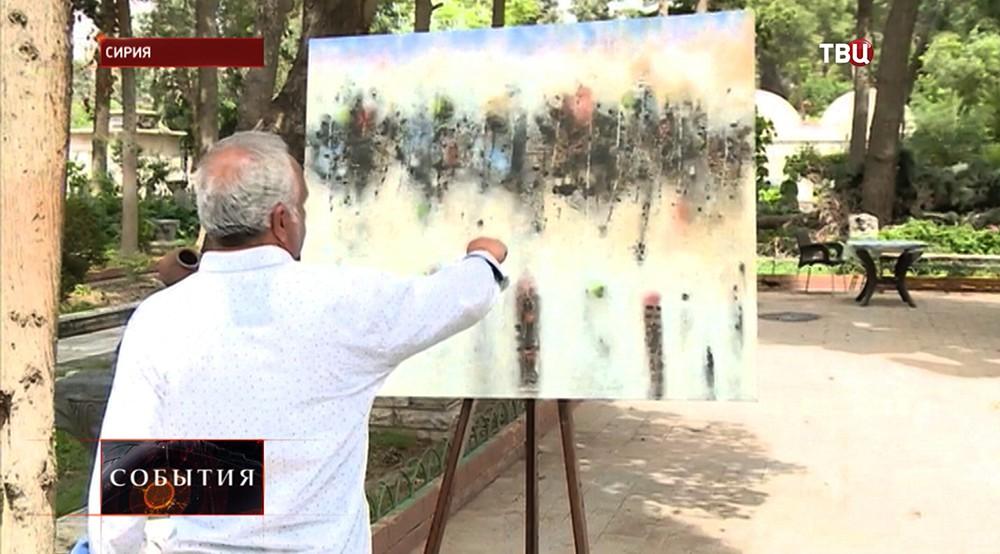 Выставка сирийских художников в Дамаске