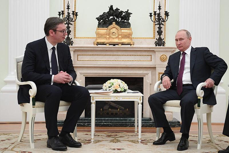 Президент России Владимир Путин и президент республики Сербии Александр Вучич