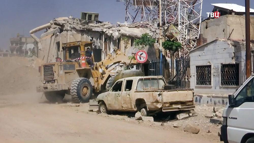 Устранение последствий военных действий в Сирии