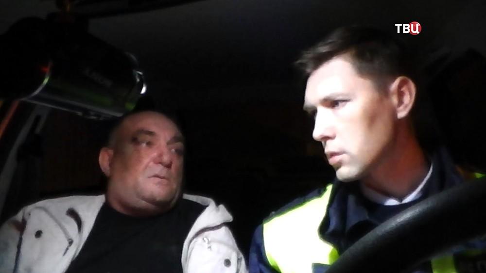 Задержанный пьяный водитель