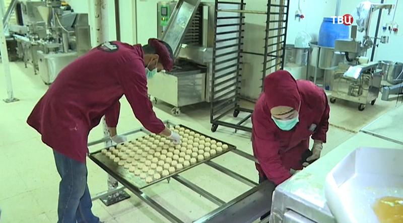 Фабрика по производству восточных сладостей в Дамаске