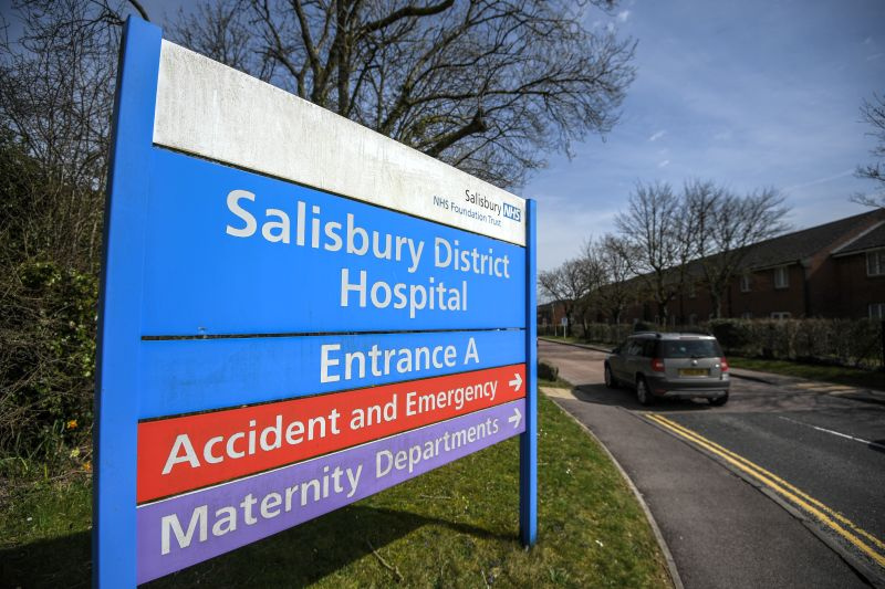 Указатель окружной больницы Солсбери