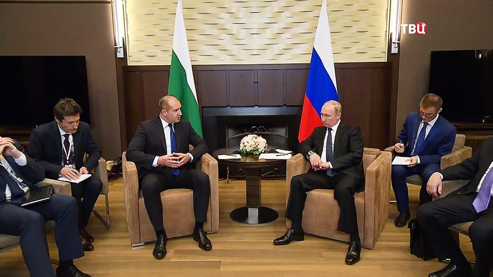 Президент России Владимир Путин и президент Болгарии Румен Радев