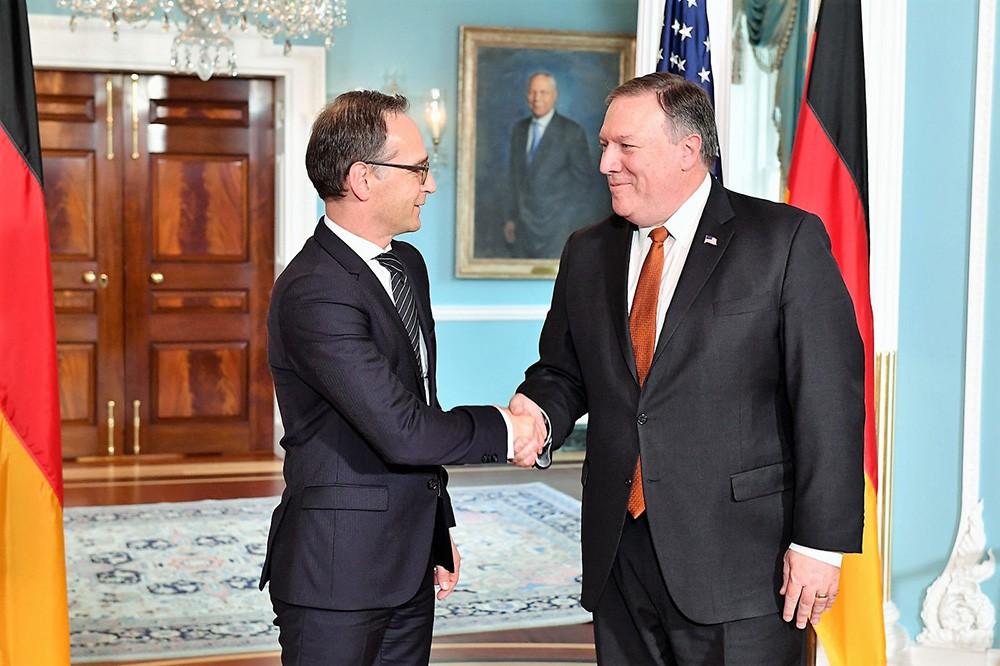 Глава Госдепа США Майкл Помпео и министр иностранных дел Германии Хейко Маас