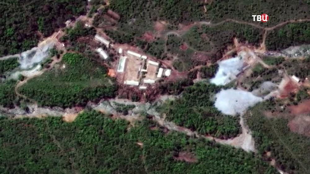 Снимок ядерного полигона Пунгери в КНДР