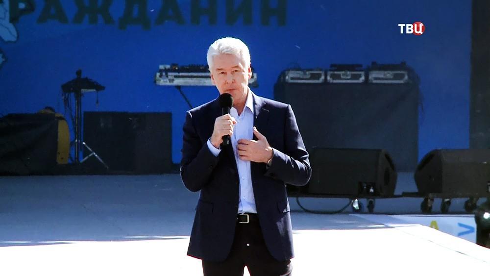 """Сергей Собянин на праздновании проекта """"Активный гражданин"""""""