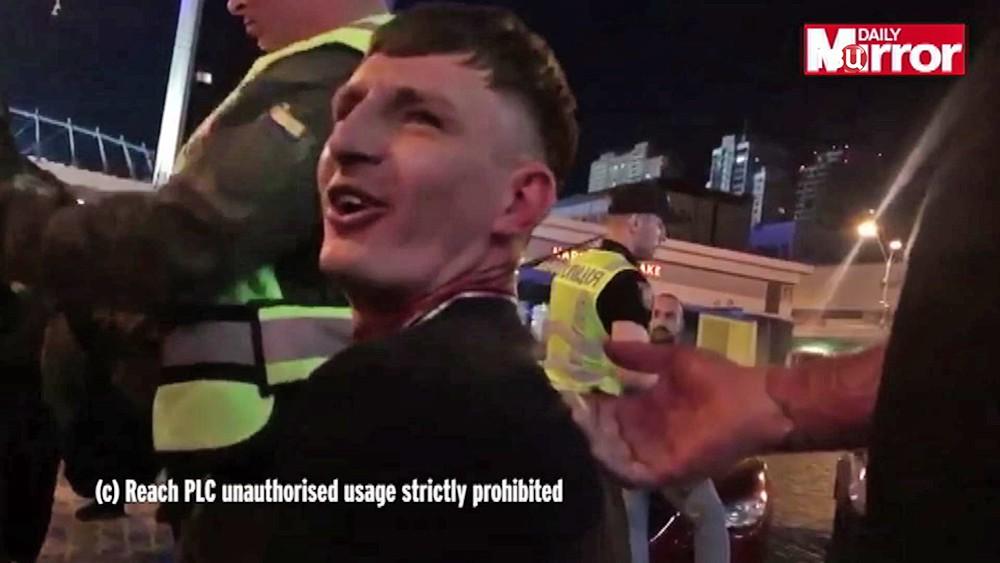 Задержанные украинские фанаты