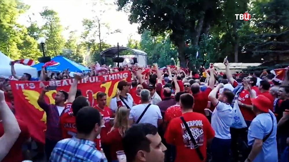 Британские фанаты в Киеве