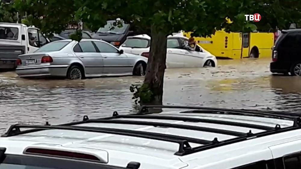 Наводнение в городе Рустави, Грузия