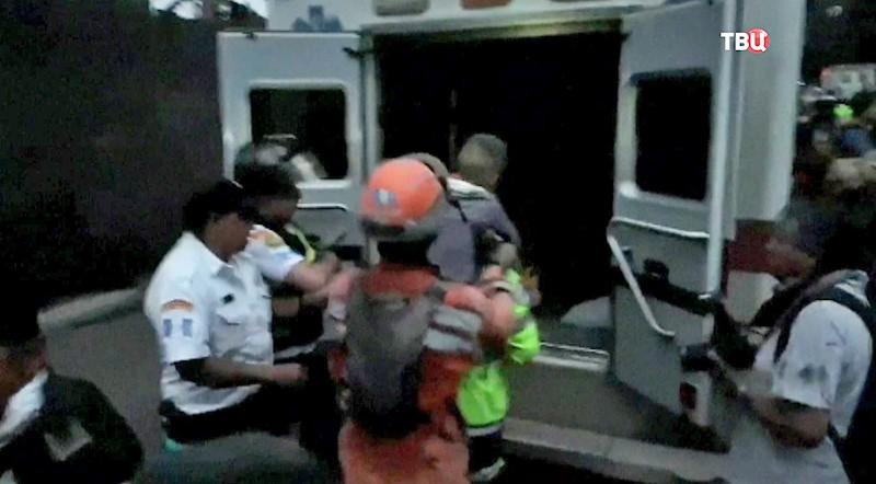Эвакуация жителей в Гватемале