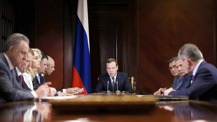Дмитрий Медведев на встрече с вицепремьерами