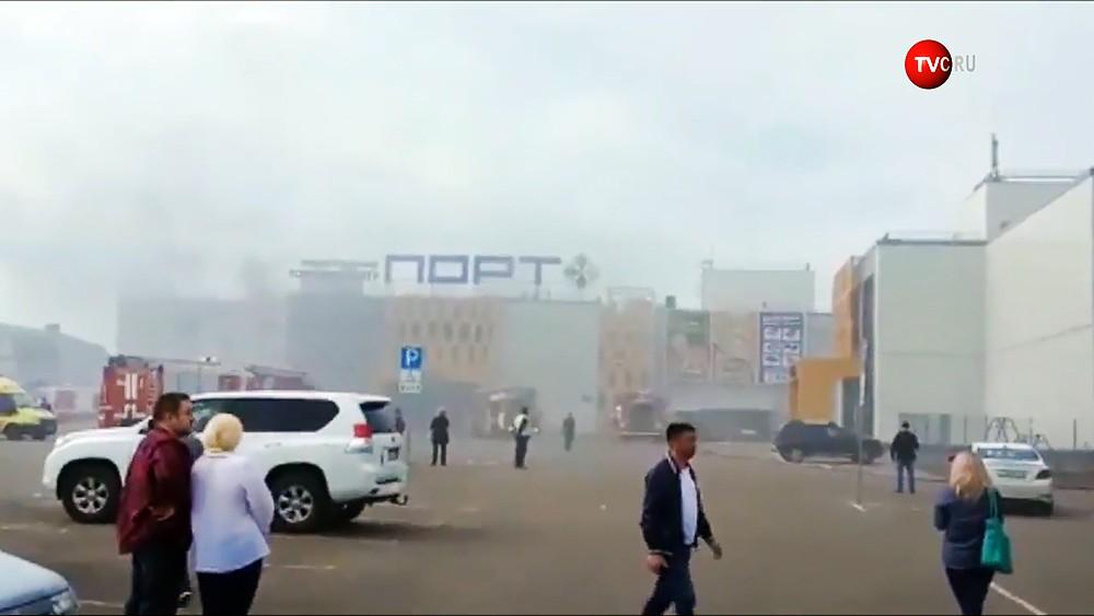 "Пожар в ТЦ ""Порт"" в Казани"