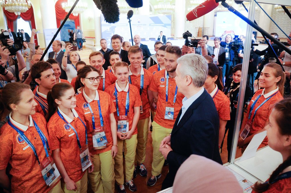 Сергей Собянин посетил пресс-центр чемпионата мира по футболу FIFA 2018