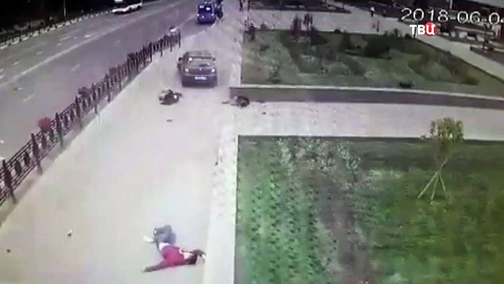 Последствия наезда автомобиля на пешеходов