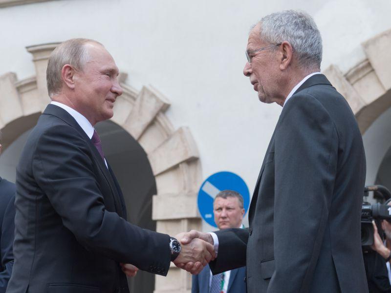 Владимир Путин и президент Австрии Александр Ван дер Беллен