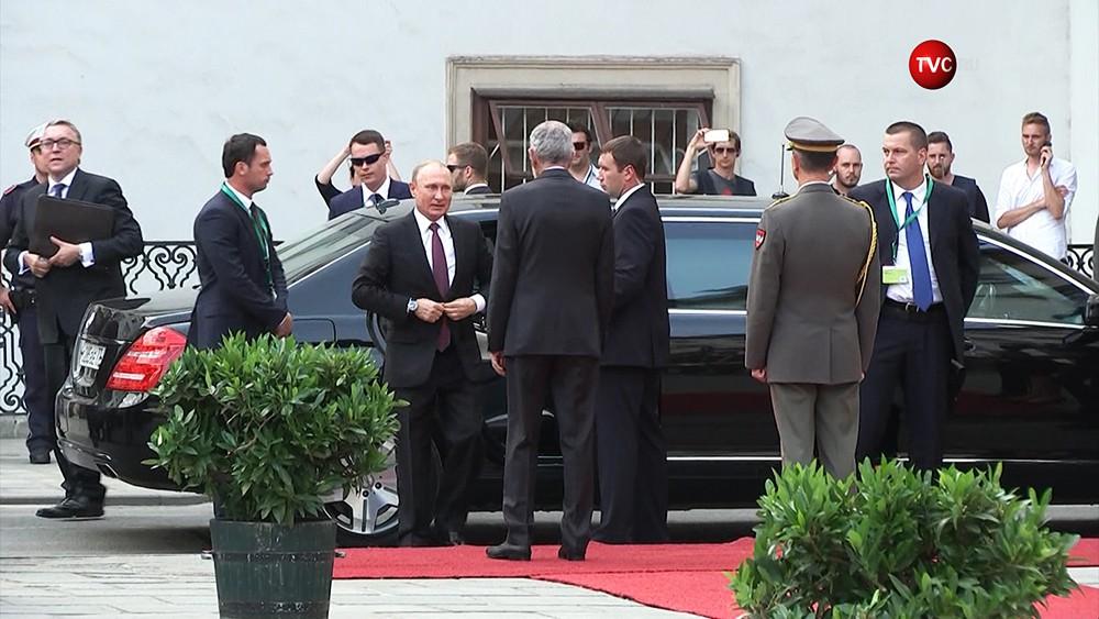 Президент России Владимир Путин в Австрии