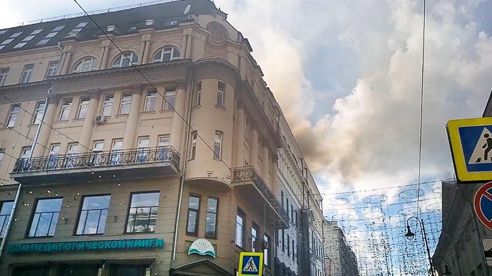 Ликвидация пожара в центре Москвы