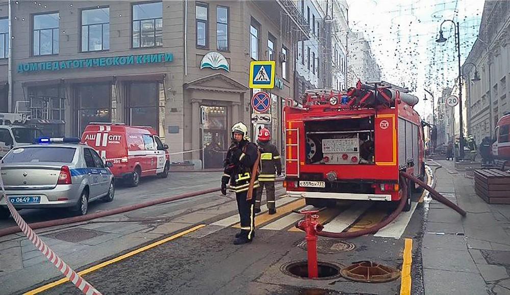 Пожарные на Большой Дмитровке