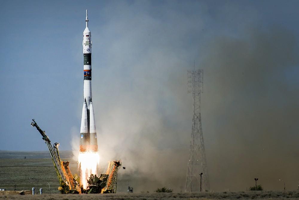"""Старт ракеты-носителя """"Союз-ФГ"""""""