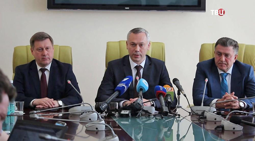 Временно исполняющий обязанности Губернатора Новосибирской области Андрей Травников