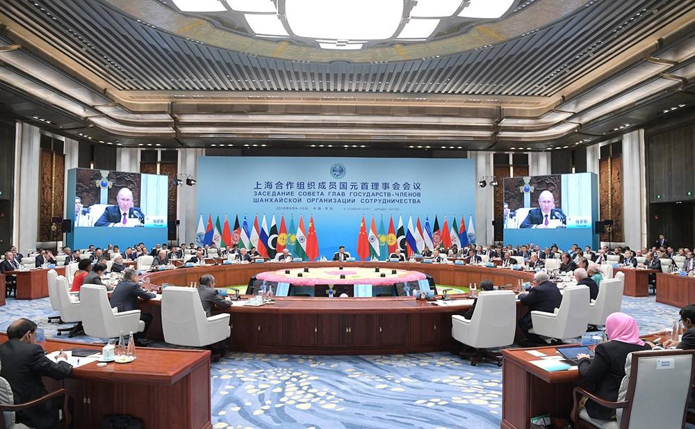 Участники саммита Шанхайской организации сотрудничества (ШОС)