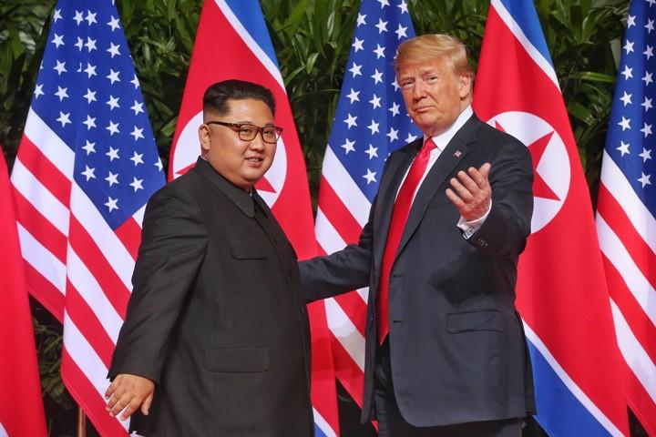 Ким Чен Ын и Дональд Трамп
