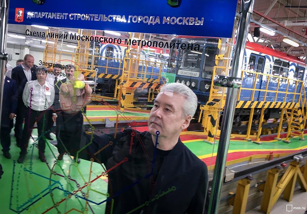 """Сергей Собянин во время открытия электродепо """"Лихоборы"""""""