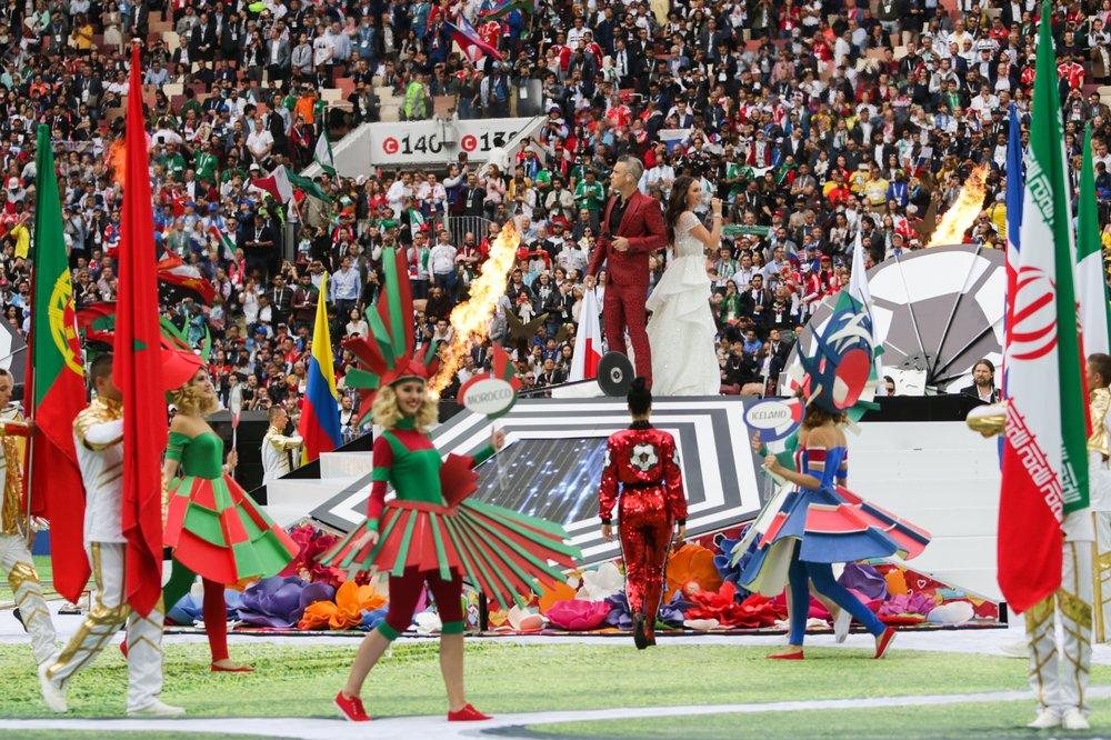 Церемония открытия чемпионата мира по футболу 2018