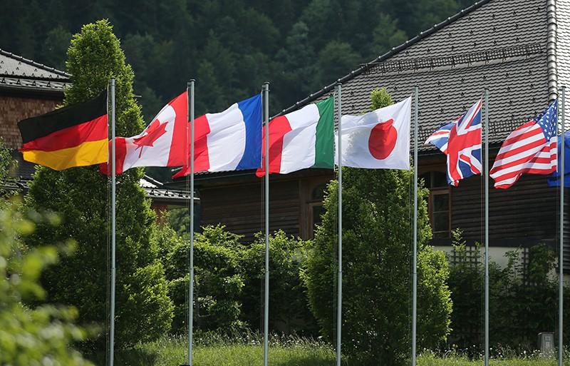 Флаги стран G7