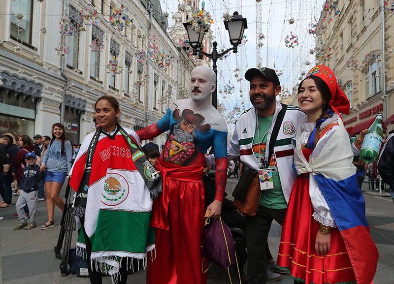 Болельщики чемпионата мира по футболу 2018 в Москве