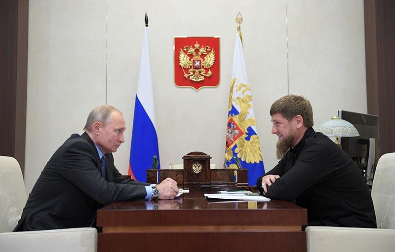 Владимир Путин и глава Чеченской Республики Рамзан Кадыров