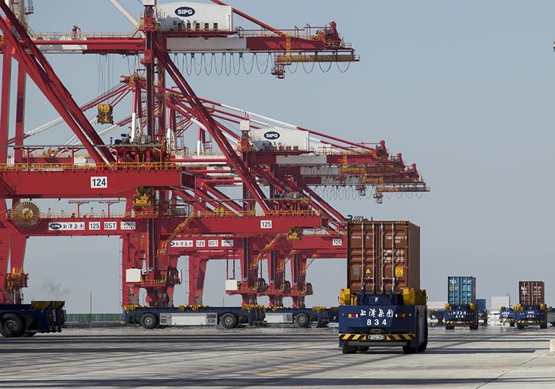 Порт Шанхая, Китай